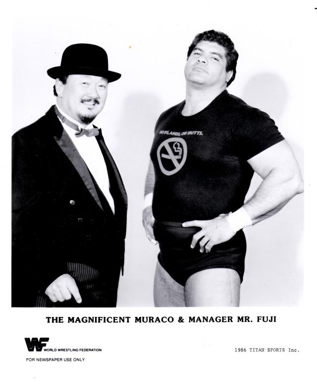 Magnificent Muraco and Mr Fuji 1986